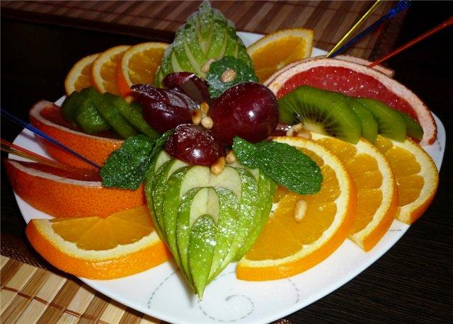 красивая фруктовая нарезка фото