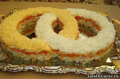 салат два кольца